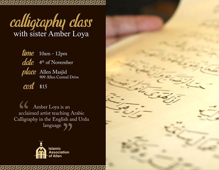 Calligraphy Class Monthly November